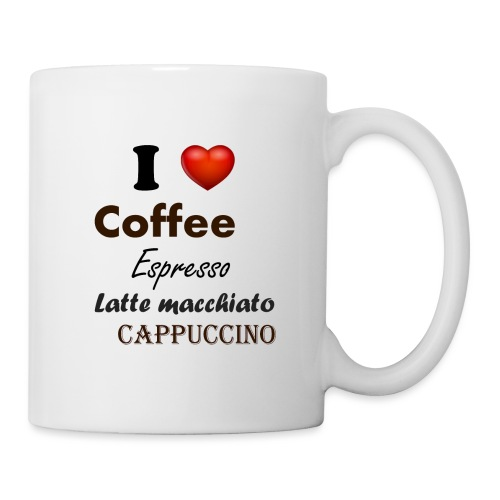 I love Coffee Espresso Latte macchiato Cappuccino - Tasse