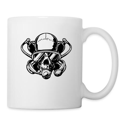 Skull diver white double face - Mug blanc