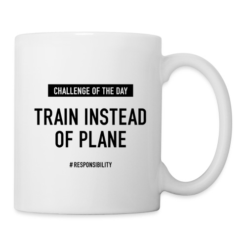 Train instead of plane-Challenge: Guter Arbeitstag - Tasse