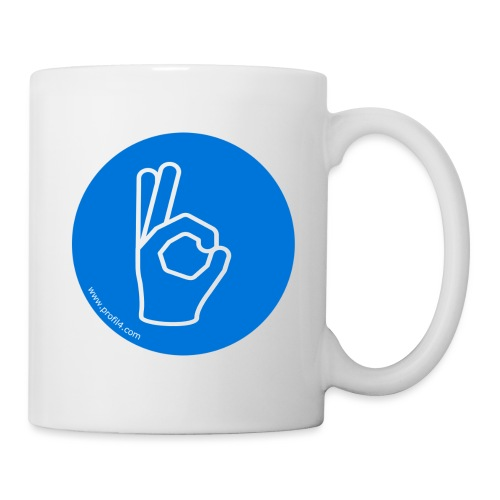 Main Consciencieux DISC - Mug blanc