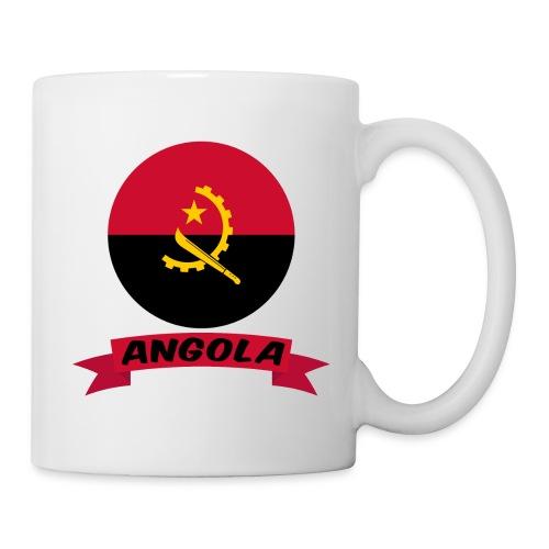 flag of Angola t shirt design ribbon banner - Tazza