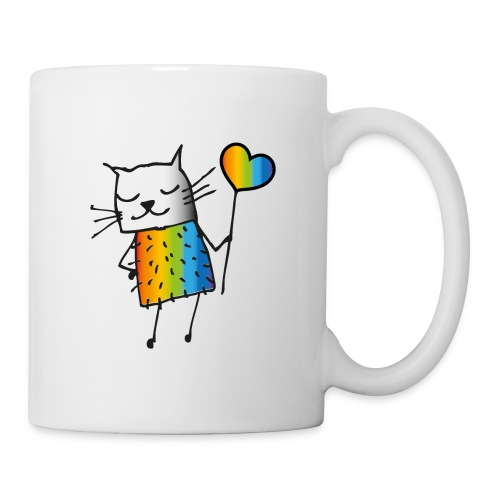 Regenbogen Katze - Tasse