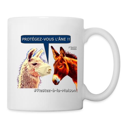PROTEGEZ-VOUS L'ÂNE !! - Coronavirus - Mug blanc