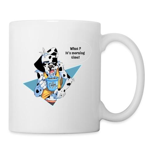 Dalmatian with his morning coffee - Mug