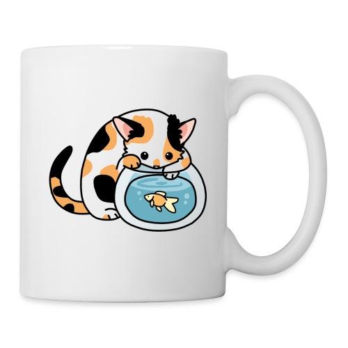 Katze mit Fisch im Glas - Tasse