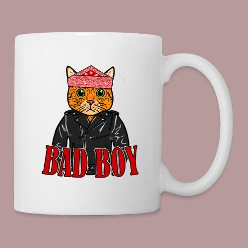 Bad boy chat roux rockeur - Mug blanc
