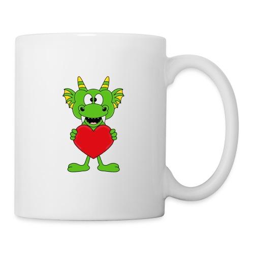 Lustiger Drache - Dragon - Herz - Liebe - Love - Tasse