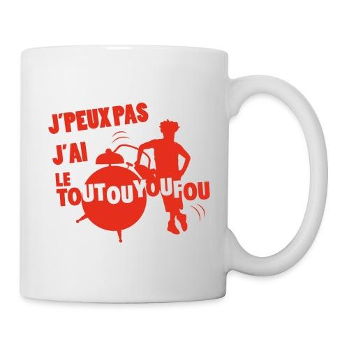 JPEUXPAS ROUGE - Mug blanc