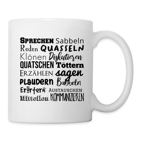 Sprechwörter schwarz - Tasse