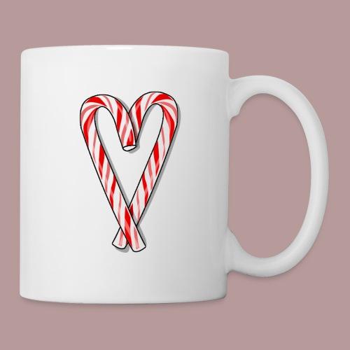 Sucre d'orge en forme de coeur - Mug blanc