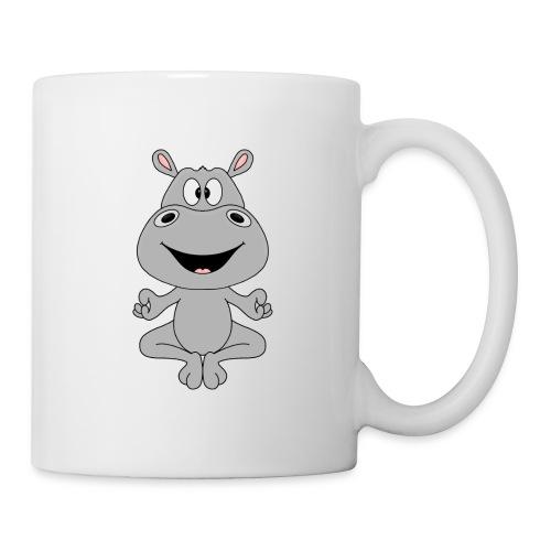 FLUSSPFERD - HIPPO - NILPFERD - YOGA - PILATES - Tasse