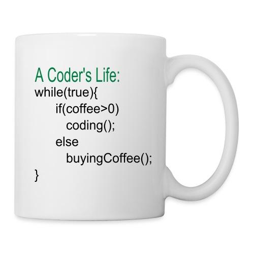 Programmierer Nerd Kaffee Programmieren Spruch - Tasse