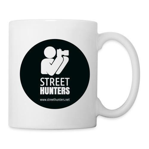 white logo on black circle URL png - Mug