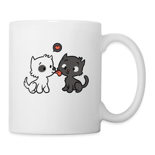 Hund liebt Katze - Tasse