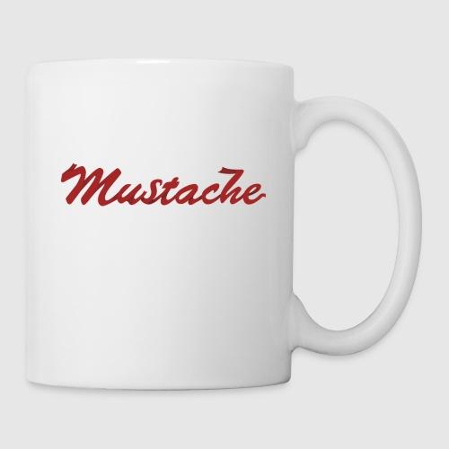 Red Mustache Lettering - Mug