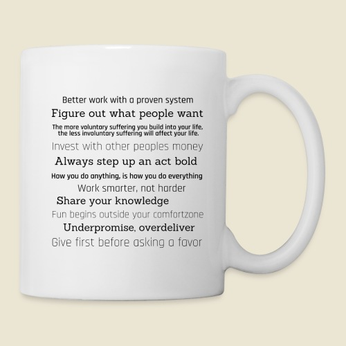 inspirations from great minds - Tasse