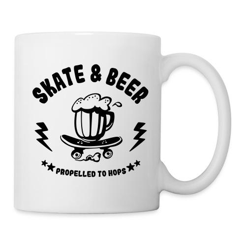 skateboard et bière - Mug blanc
