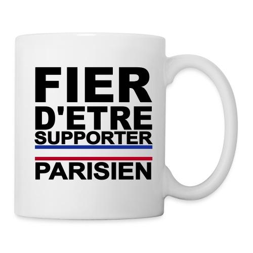 fier parisien noir 01 - Mug blanc
