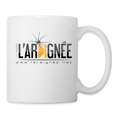 L'ARAIGNÉE, logo noir - Mug blanc