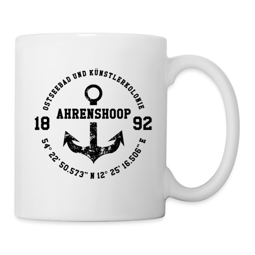 Ostseebad und Künstlerkolonie Ahrenshoop schwarz - Tasse