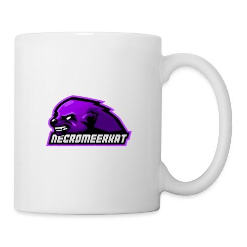 Necromeerkat logo + texte - Mug blanc