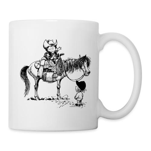 Thelwell Cartoon Cowboy mit seinem Pony - Tasse