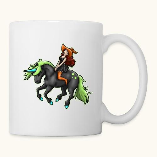 Monter une sorcière sexy sur une licorne. - Mug blanc