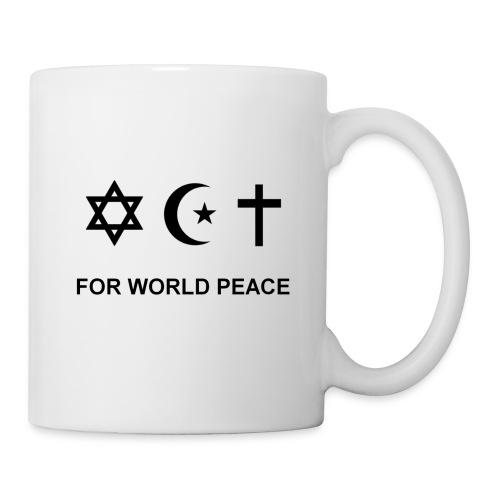 For World Peace badges - Mug blanc