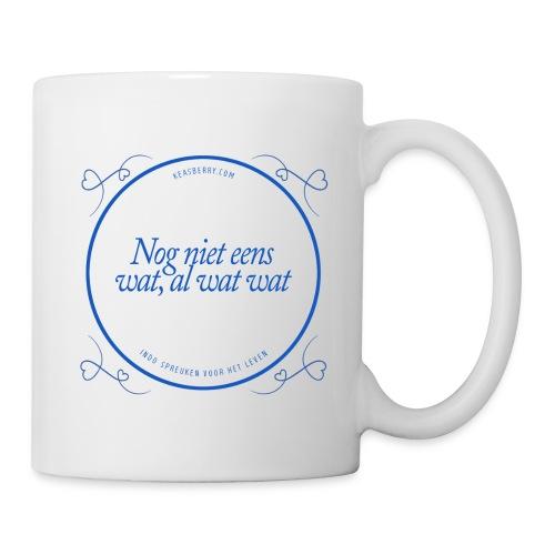nognieteenswat_blauw - Mug