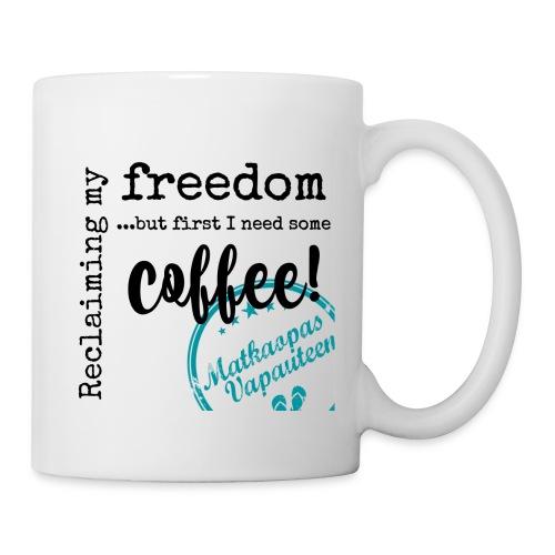 Kahvimuki Matkaopas Vapauteen, turkoosi - Muki