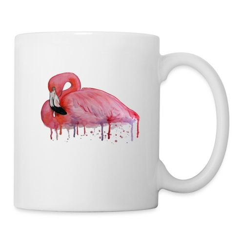 Pink Flamingo Watercolors Nadia Luongo - Tazza