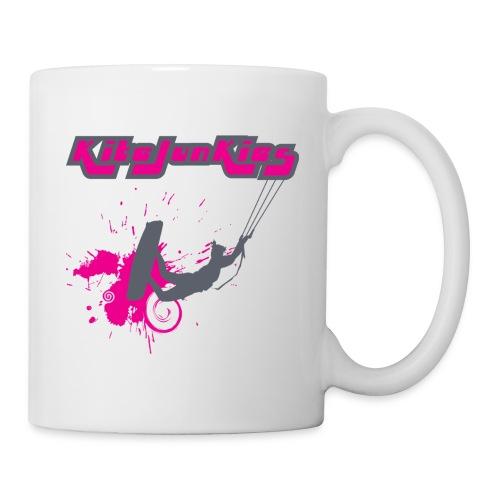 kj kiter girl logo grey fushia - Mug