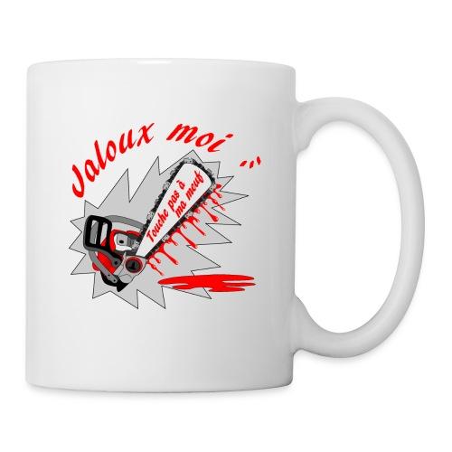 t shirt jaloux moi amour possessif humour FS - Mug blanc