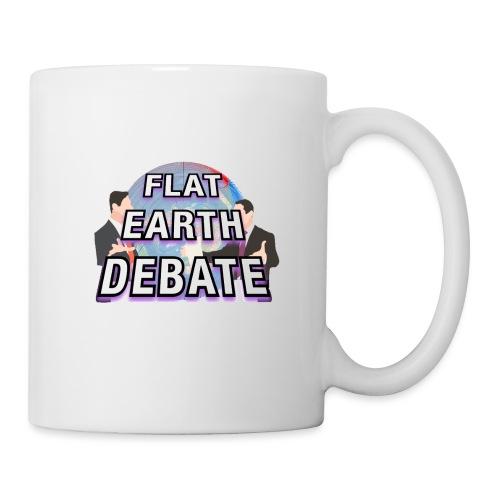 Flat Earth Debate Solid - Mug