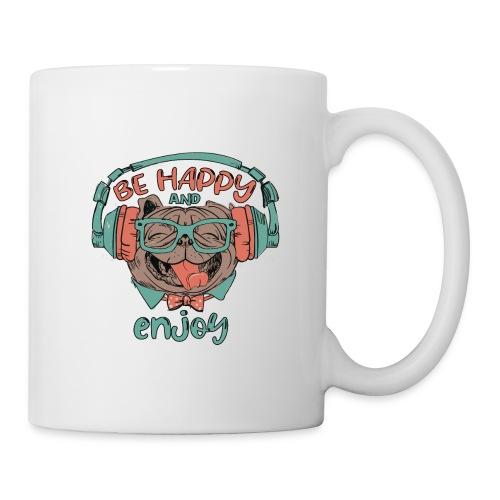 Be happy Mops and enjoy / Genießer Hunde Leben - Tasse