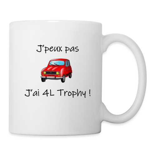 J'peux pas, j'ai 4L Trophy - Mug blanc
