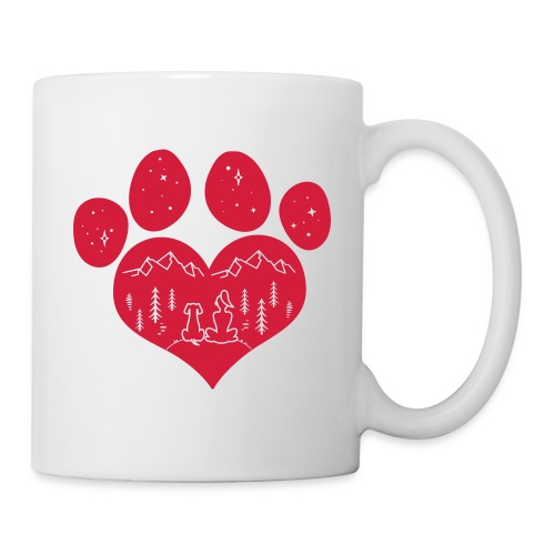 Vorschau: dog girl outdoor pawheart - Tasse