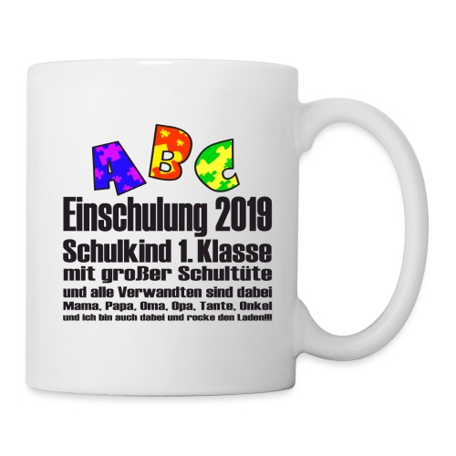 Einschulung Jahr 2019 - Tasse