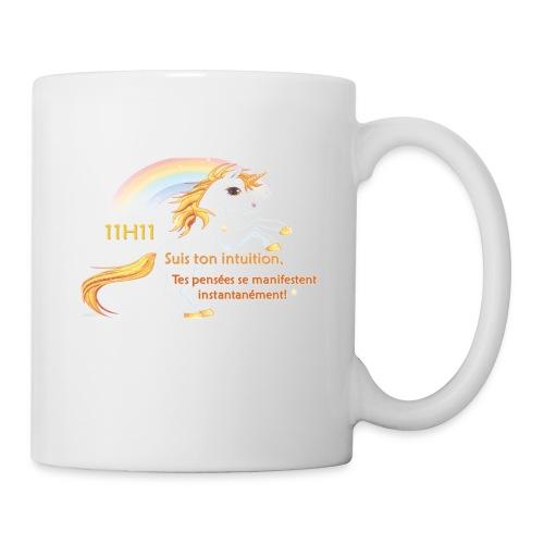 11h11 licorne or - Mug blanc