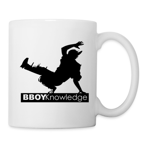 Bboy knowledge noir & blanc - Mug blanc