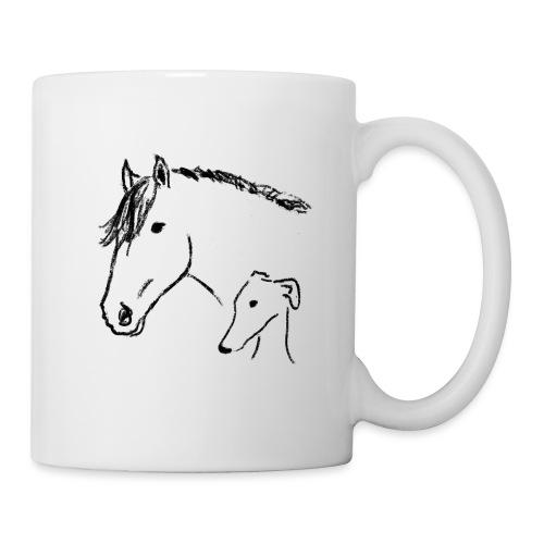 Windhund und Pferd - Tasse