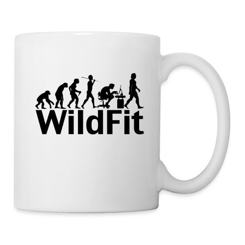 WildFit Logo Evolution in Schwarz - Tasse
