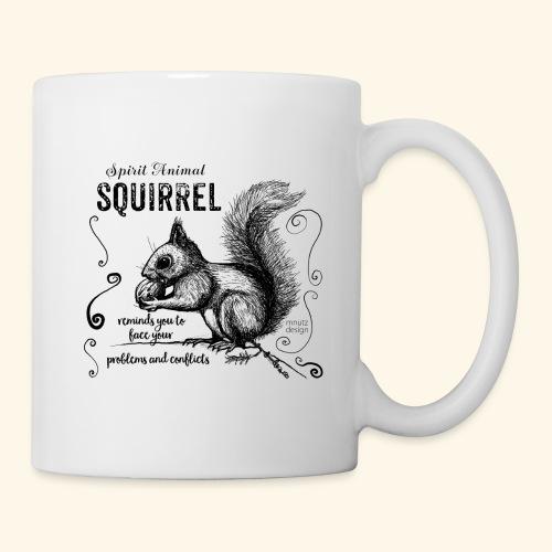 Spirit Animal Eichhörnchen schwarz - Tasse