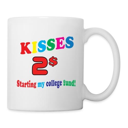 kisses 2 dollar - Mugg