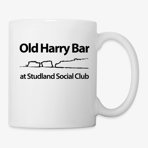 Old Harry Bar logo - black - Mug