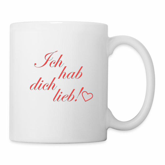 Ich Hab Dich Lieb Spruch Tasse