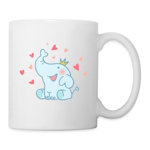 Eléphant amoureux - Mug blanc