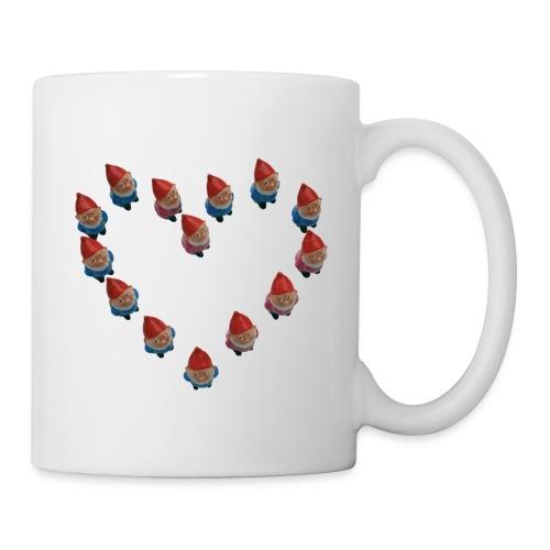 coeurdenainscartespreadshirt - Mug blanc