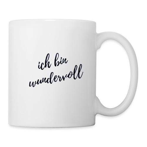 Ich bin wundervoll s/w - dein täglicher Begleiter - Tasse