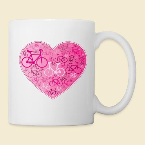 Kunstrad | Mein Herz rosa - Tasse